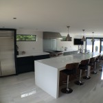 anthracite and designer white corian