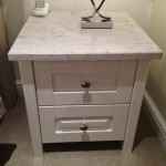 strong white bedside cabinet