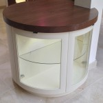 walnut and cream drinks cabinet