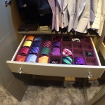 bespoke flocked tie drawer