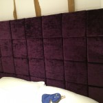 bespoke crushed velvet headboard