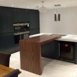 anthracite, walnut and corian