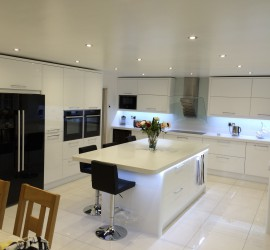 pure white gloss with antartica corian