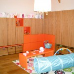 oak and citrus playroom