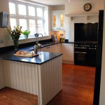 painted oak with silestone composite surfaces
