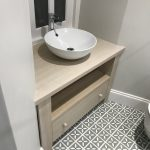 lime-washed oak vanity