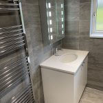 riverstone grey and white vanity